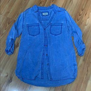 Express blue denim button top Size Medium